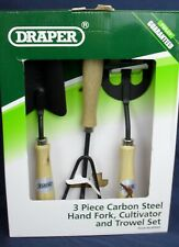 Draper Carbon Steel Hand Fork, Cultivator And Trowel with Hardwood Handles 83993
