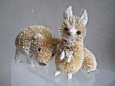 Darling Fox & Bear Bottle Brush Midwest Seasons Cannon Falls Xmas Ornaments