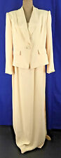 Vtg Oleg Cassini Black Tie Womens 8 Yellow Beaded Formal Skirt Suite  NWT $620