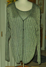 Prophecy Sag Harbor Woman Exquisited Gold Evening Blouse Plus Size 1X/20W (NWT)
