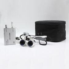 2.5X 420mm Denti Loupes Binoculari Occhiali Loupes ottico+LED Headlamp