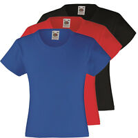 Kids Fruit Of The Loom T Shirt 3 Pack Black Blue Red