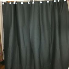 Room Essentials Solid Black Waffle Weave Shower Curtain