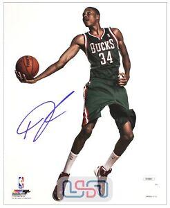 Giannis Antetokounmpo Bucks Autographed Signed 8x10 Photograph Photo JSA Auth #2