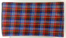 Scottish Plaid Rollup Double Pocket Tri Fold Pipe Tobacco Pouch Asst Prints 1158