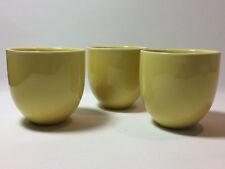 3 x ARABIA Teema Kilta Kaffeebecher Milchbecher Becher gelb Kaj Franck Finland