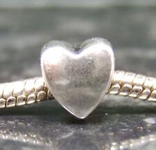 Tono Argento Amore Cuore Ciondolo europeo Perline