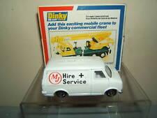"DINKY TOYS MODEL No.410 BEDFORD CF ""MJ"" HIRE + SERVICE large box version MIB"