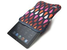 BUILT NY Neoprene Sleeve Case for iPad 2 3rd 4th Generation w/ Zipper Rain Drops