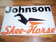 "4.5""X 7"" (NEW Vinyl)  JOHNSON Skee-Horse STICKER"