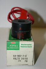 Asco Solenoid Valve Coil #64-982-7-D 24/60 Volts D9 Fb