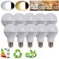 10X E27 B22 ES BC LED Light Globe Bulb 3W 5W 7W 9W 12W 15W Lamps Warm Cool White