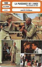Movie Card. Fiche Cinéma. La puissance de l'ange / The power of one (USA) 1992