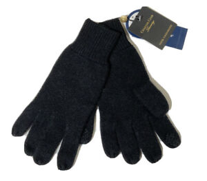 Charter Club Luxury 100% Cashmere Knit Gloves Touch Screen - Black