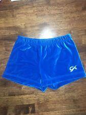 Gk Elite Velvet Gymnastics Dance Shorts Adult M Medium Am Turquoise Blue