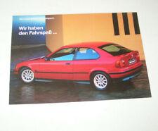 Prospekt / Broschüre BMW 316i compact E 36 - Stand 1994 !
