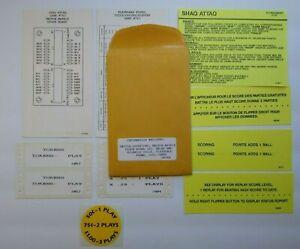 Gottlieb Shaq Attaq Pinball Machine Game Instruction Score Cards Decals NOS 1994