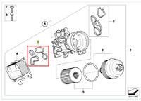 Genuine Mini Oil Cooler Gasket R56 PN: 11428643747 UK NEW