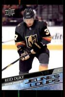2020-21 UD Series 1 French Young Guns #202 Reid Duke RC - Vegas Golden Knights