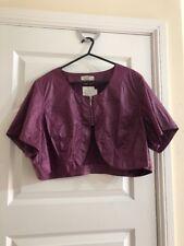 Jorli Bolero Jacket Plum Light Leather Feel Size UK 24