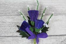 Scottish Traditional Artificial Thistle Flower Buttonhole Wedding Decoration