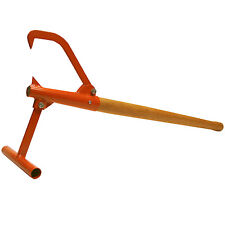 "New Timberjack Log Lifter Cant Hook Wooden handle 44"" overall length.up to12""log"