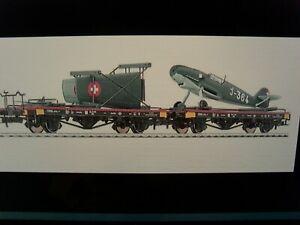 Liliput H0/HO - 'L240064' - 2 * Flat Wagon ME109 Transport Set - Ep.  II - Swiss