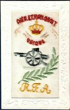POSTCARD Embroidered Silk ~ RFA ROYAL FIELD ARTILLERY ~ Military WWI #2