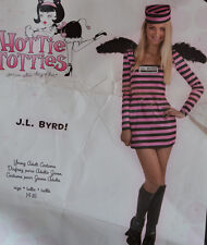 J.L.Byrd Jail Bird Angel Convict Prisoner Costume Womens Young Adult Sz 14-16