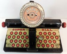 Vintage 1930's Marx Tin Toy Litho Super Dial Typewriter Metal