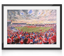 More details for the willows stadium fine art a4 framed print - salford rugby league