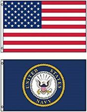 3' X 5' 3x5 USA American Flag US Navy Seal Crest United States WHOLESALE LOT #2