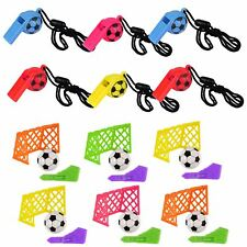 Boys 6 Football Whistles & 6 Football Toys Kids Loot Favors Party Bag Fillers
