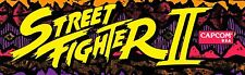 Street Fighter 2 Arcade Marquee For Reproduction Header/Backlit Sign