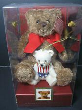 Nib Lenox American Bears Plush and Ornament 2002 Uncle Sam 100th Anniversary