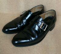 CHEANEY QUARTER MONK STRAP MEN'S LEATHER SHOES BLACK UK SIZE 9 MADE IN UK
