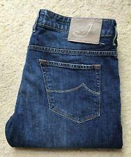 Jacob Cohen PW613 Comfort Tailored Handmade Indigo Blue Denim Jeans W 38 L 30
