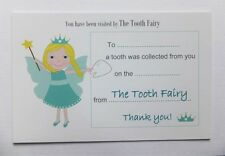 2x The Tooth Fairy Visit Thank You Letter Certificate Keepsake Receipt /Envelope