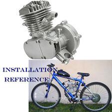 80cc 2 Stroke Engine Motor for Motorized Bicycle Bike Engine Chopper Gas V-Frame