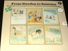 FROM SWEDEN TO AMERICA Emigrant and Immigrant Songs 2 LP SET MINT VINYL SWEDEN
