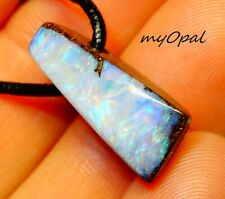 +++ schöner handgefertigter Boulder Opal Anhänger - siehe VIDEO myOpal !