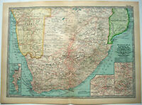 Southern Africa - Original 1911 Map by The Century Company. Antique Map