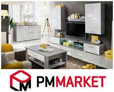 Living Room High Gloss Furniture  full Set Display Wall Unit TV Cabinet onyx 2