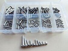 200pcs M2.5 M3 Half Round Head Aluminum Rivets Solid Rivet Assortment Kits Set