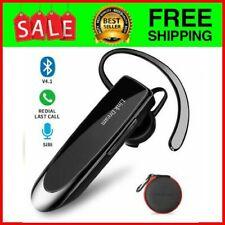 Bluetooth Earpiece Wireless Headset with Mic 24Hrs Talktime Hands-Free in-Ear He