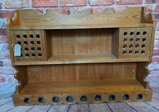 Vintage Solid Pine Wooden Kitchen Farmhouse Rustic Bathroom Shelf Shelving unit