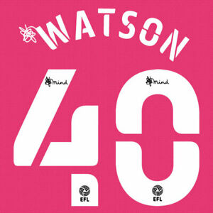 2020 2021 OFFICIAL DERBY COUNTY THIRD NAME SET WATSON 40 = PLAYER SIZE