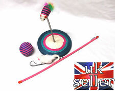 Cat Entertainment Set 3in1 Sisal Ball Spiral Sway Sisal Plate Mouse Rattle Rod