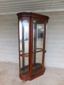 "Pulaski Cherry Lighted Curio Display Cabinet 80""H x 45.5""W"