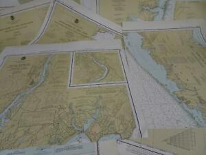 Lot 21 NJ DE PA NY NOAA Nautical Navigational Maps Charts circa 1970s to 1980s